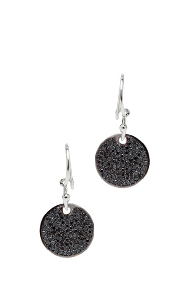 Diamond Disc White Gold Earrings