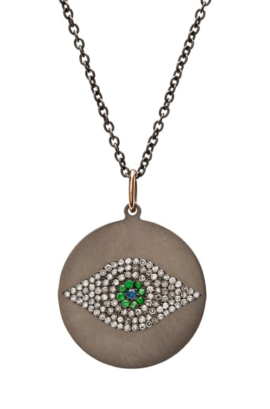 Evil Eye Tsavorites Necklace