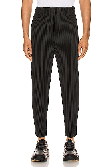 Cropped Tailored Pleats Pant