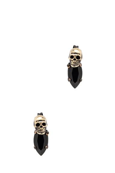 Rhinestone Antique Brass Earrings