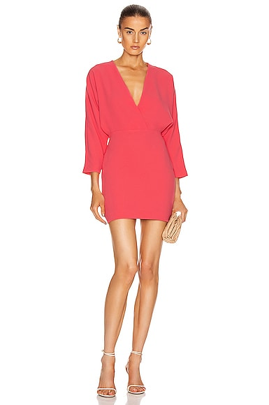 IRO Detina Dress in Hot Coral | FWRD