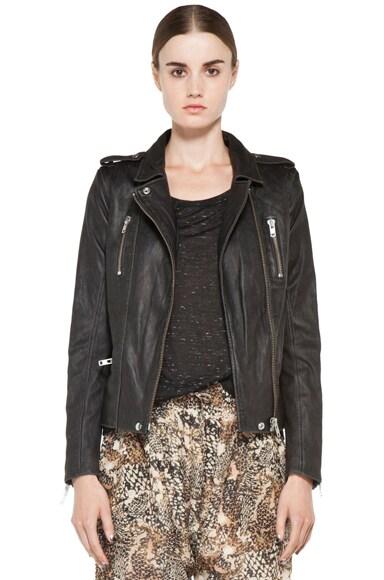 Anabela Leather Moto Jacket