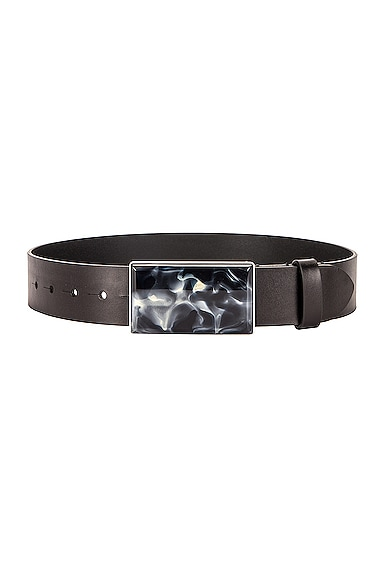 Isabel Marant Luponi Belt In Faded Black & Silver