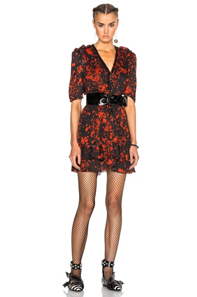 Irina Printed Silk Dress