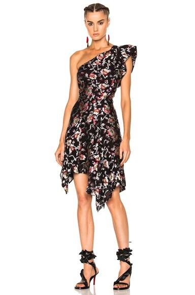 Parlam Metallic Printed Dress in Black