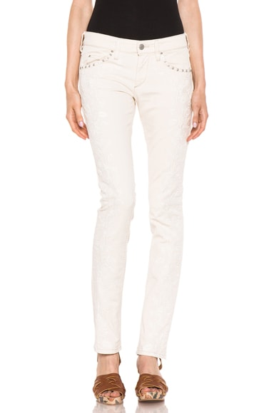Galix Embroidered Jean
