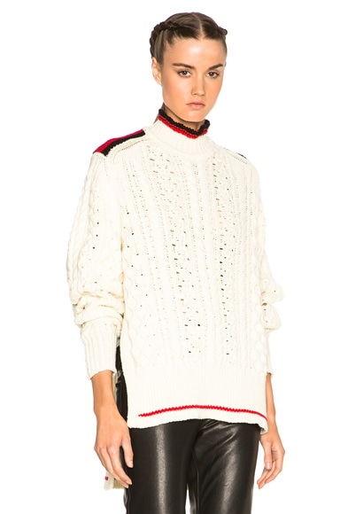 Edison Sporty Twisted Sweater in Ecru