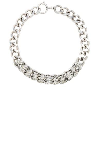 Crystal Embellished Chain Choker