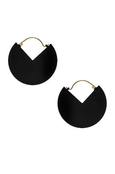 Half Glossy Earrings