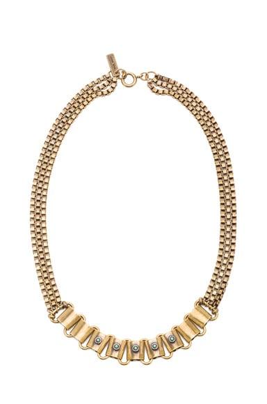 Memphis Antique Brass Necklace