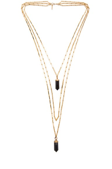 New Day Layered Brass Necklace