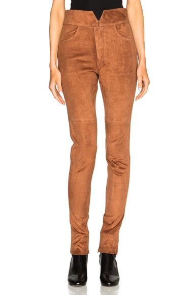 Eydie Stretch Suede Pants
