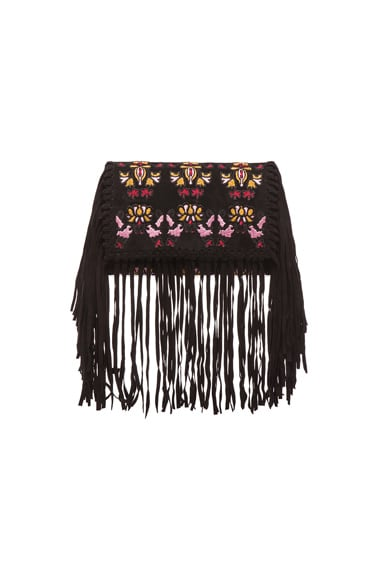 Shiloh Embroidered Fringe Clutch