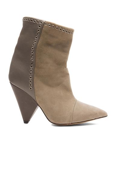 Lance Velvet Eyelet Leather Boots