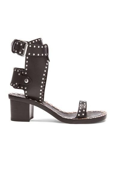 Jaeryn Pomponius Calfskin Leather Sandals