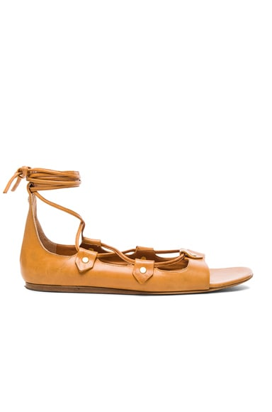 Alisa Leather Flats