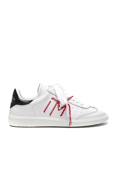 Leather Bryce Contrast Stitched Sneakers