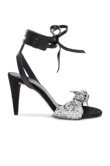 Glitter Akynn Ankle Strap Sandals