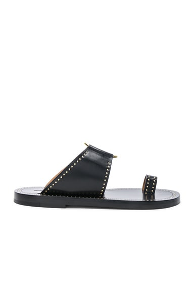 Leather Jeppy Studded Sandals