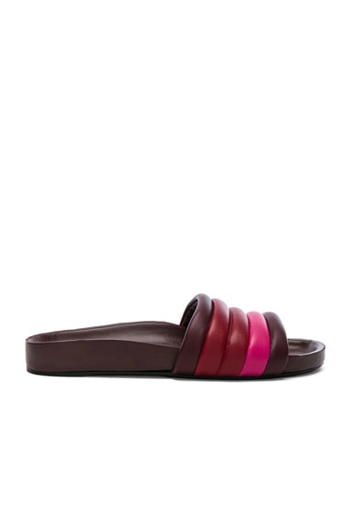 Leather Hellea Slides