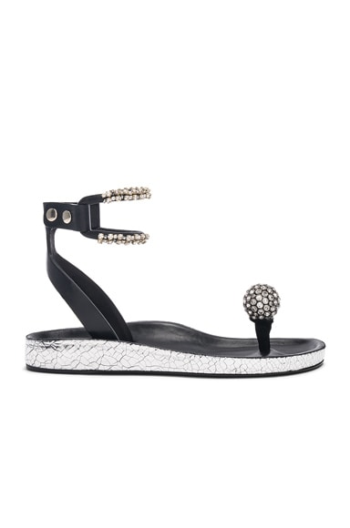 Metallic Leather Ecly Sandals