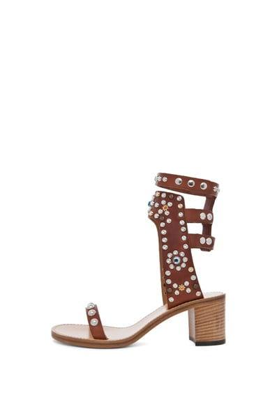 Caroll Strassed and Studded Sandal