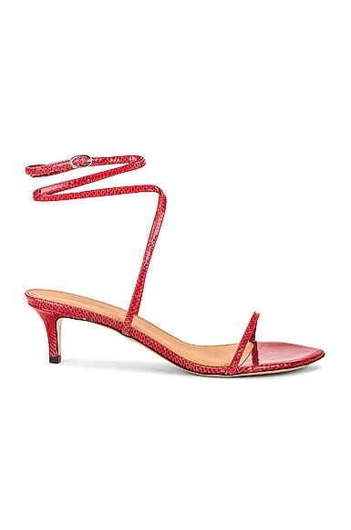 Isabel Marant Aridee Sandal In Red