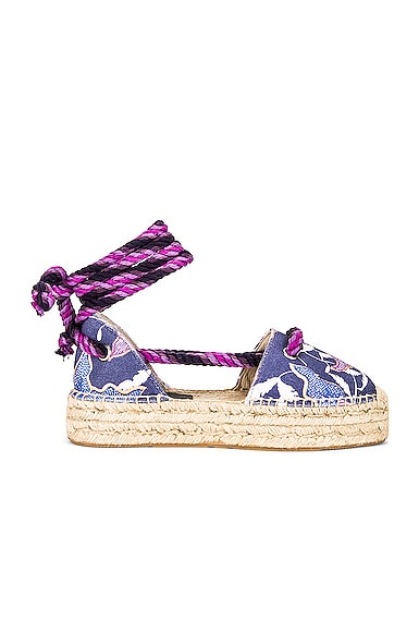 Isabel Marant Crelyne Espadrille In Faded Night