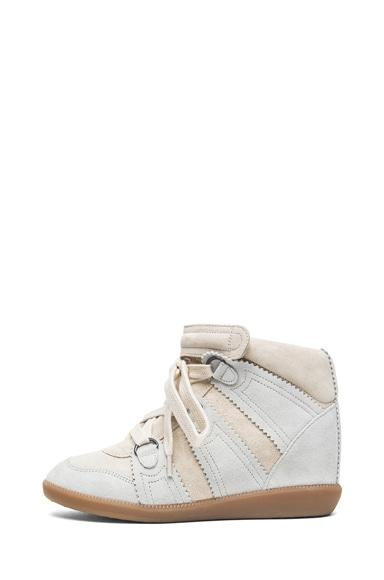 Bluebel Calfskin Velvet Leather Sneakers