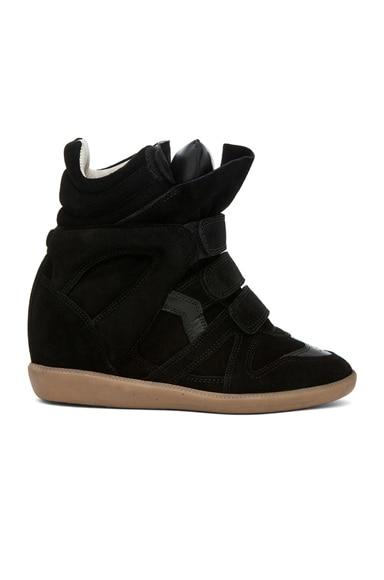 Bekett Calfskin Suede Sneakers en Noir