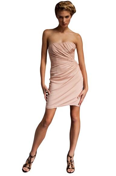 Strapless Drape Dress