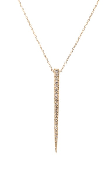 14K Pave Large Ice Pick Necklace