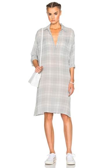 Plaid Oversize Shirt Dress