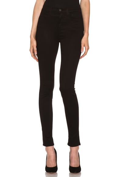 Luxe Satin High-Rise Skinny Jean