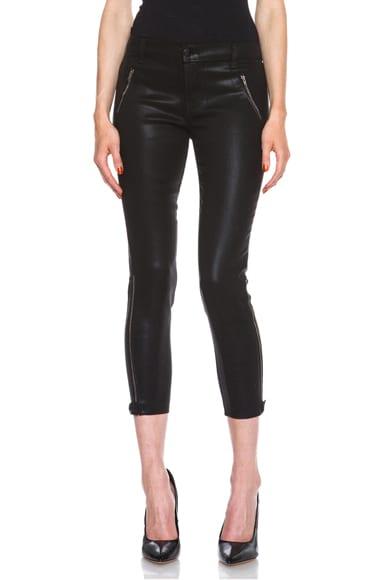 Carey Coated Zip Crop Jean