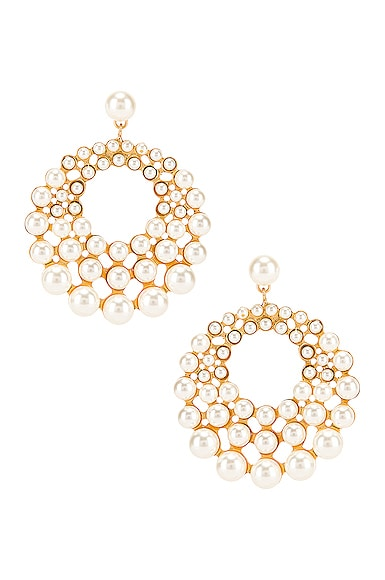 Jennifer Behr Prianna Earrings in Gold | FWRD