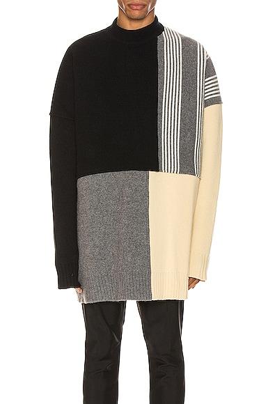 Panels Crewneck Sweater
