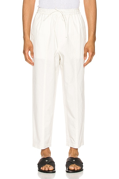 Drawstring Cotton Trousers