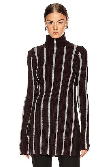 High Neck Long Sleeve Sweater