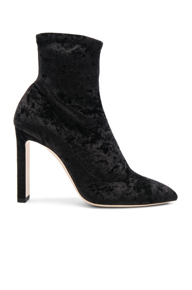 Crushed Stretch Velvet Louella Boots