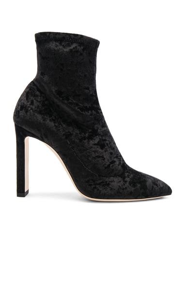 Louella 100 Crushed Velvet Boots