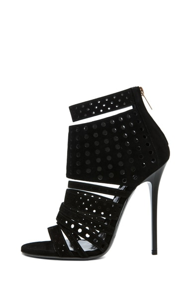Malika Suede Perforated Bootie