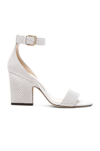 Knit Embossed Leather Edina Sandals