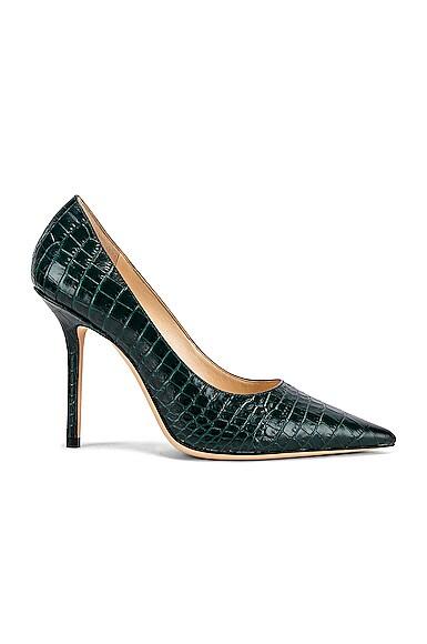 Croc Embossed Love 100 Heel
