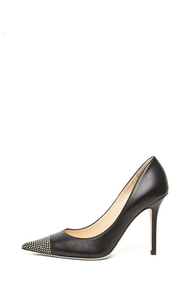 Amika Nappa Leather Studded Toe Pump