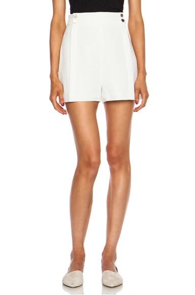 High Waisted Acetate-Blend Shorts