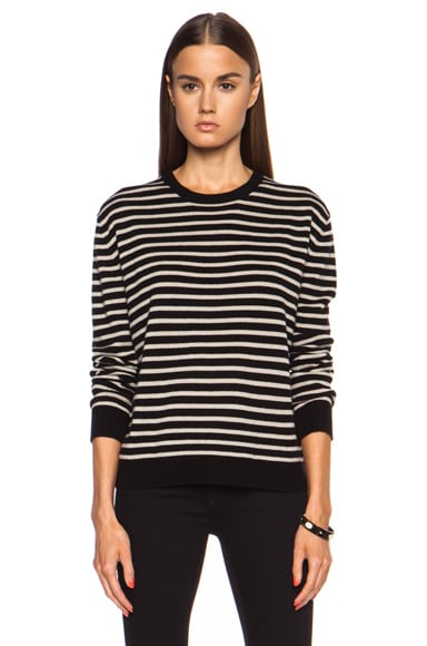 Narow Stripe Wool-Blend Pullover