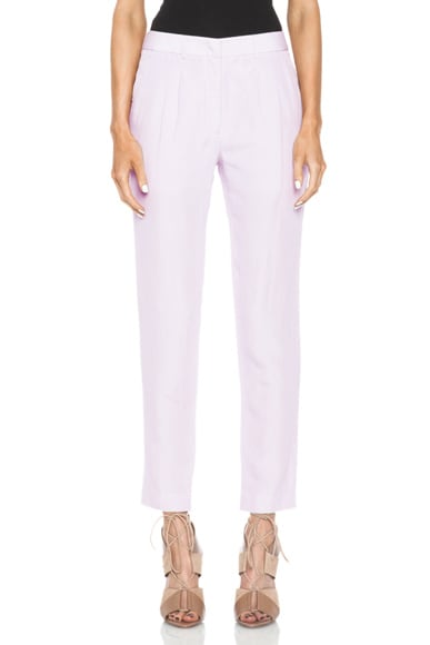 Pleated Silk-Blend Pant
