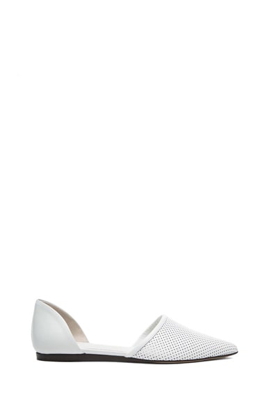 Perforated Leather Flats