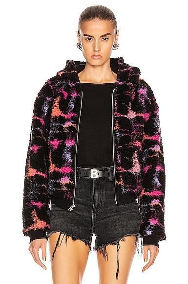 Reversible Fleece Lined Zip Hoodie